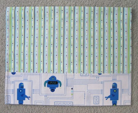 robot pillowcase for Edward