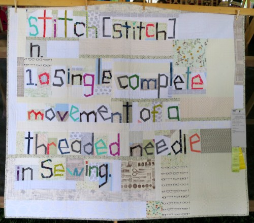The Definition of Stitch by Sarah Fielke of Chatswood NSW Australia 69 x 60