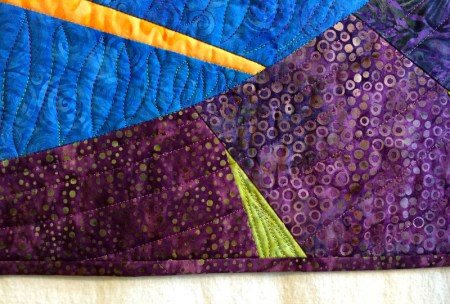 big leaf, quilting detail 2