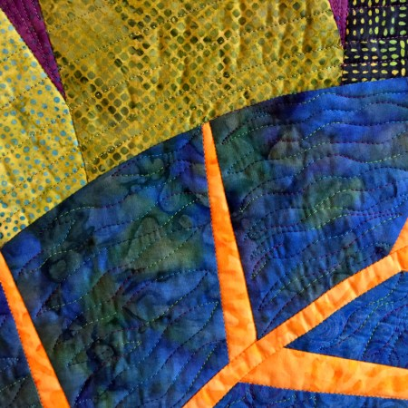 big leaf, quilting detail 3