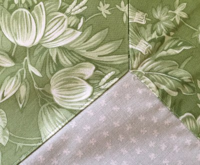 tablecloth stitched in ditch