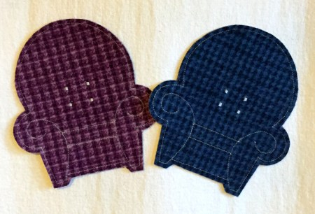 coasters teal and purple