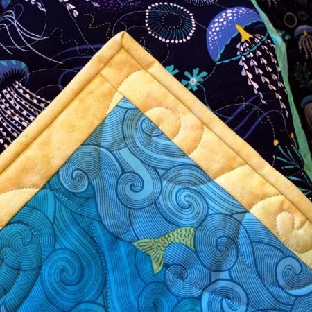 Stefan's quilt, binding detail