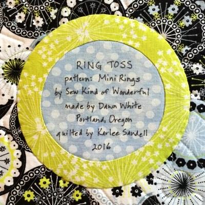 2016-6, Ring Toss label