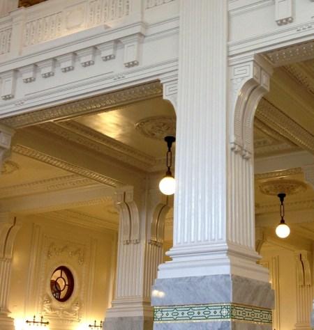 Seattle King St Station fluted Corinthian column aug 2016