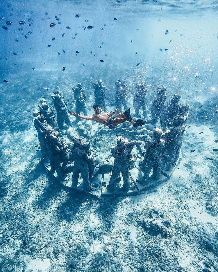 Patung Bawah Laut Gili Meno, sumber ig balidestinations