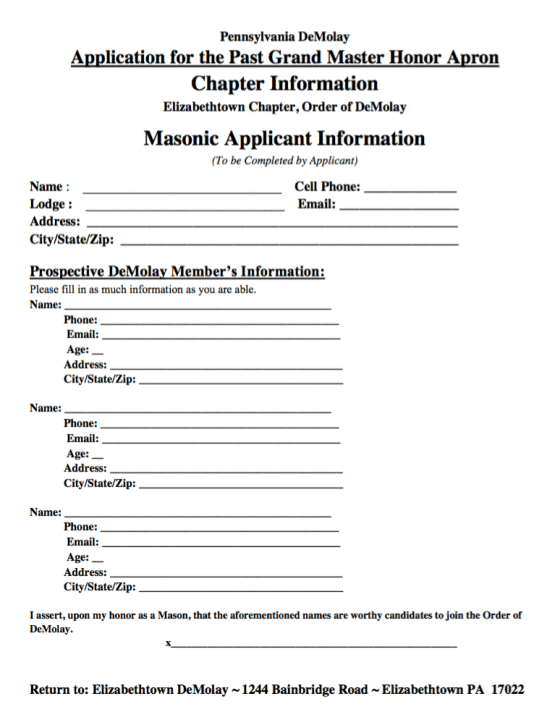 Application PDF Link RWPGM Apron