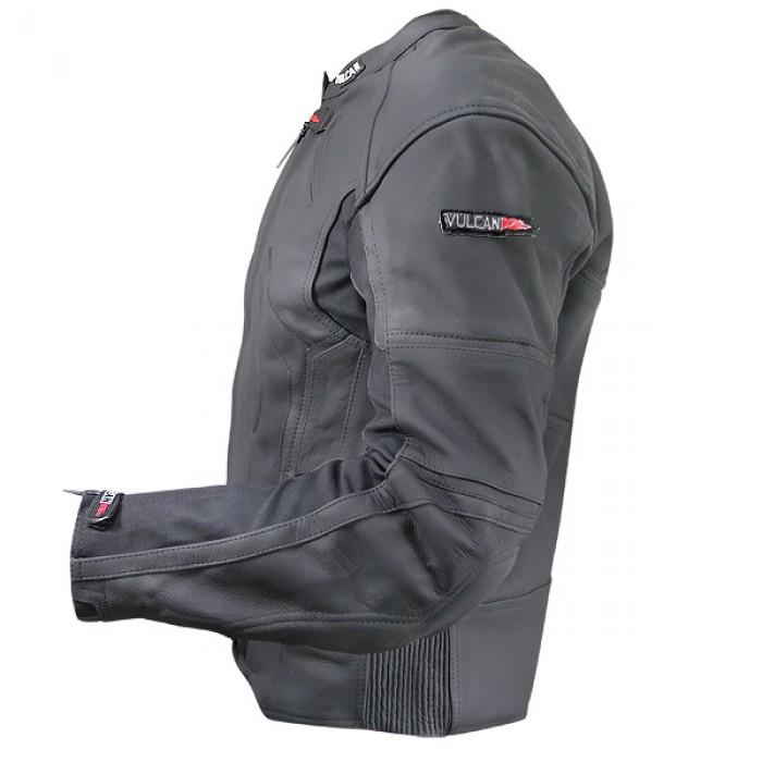 114458905 Mens Black Vulcan vtz 910 Street Racer Premium Leather