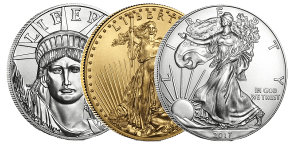 IRA approved gold, silver, platinum and palladium coins and bars