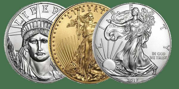 IRA Acceptable Gold, Silver, Platinum Coins