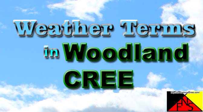 Weather Terms in Woodland Cree (TH)