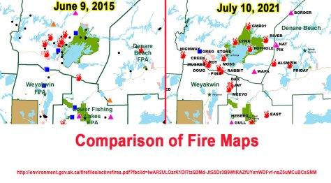 Sask Fire Map