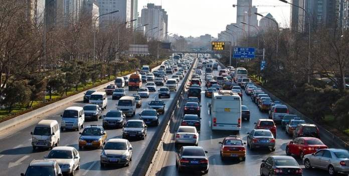 There are a lot of traffic jams in China