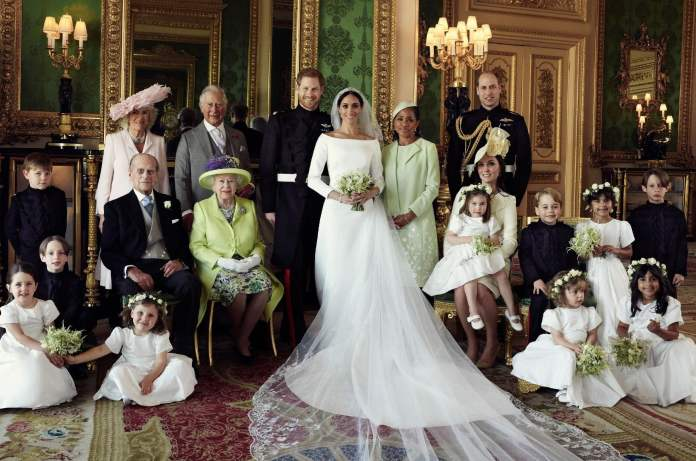 Photo of Queen Elizabeth with her family