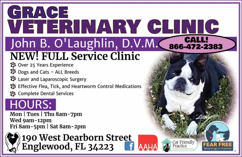 901 lincolnway e, plymouth, in 46563. New! Full Service Clinic, Grace Veterinary Clinic