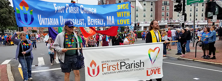 First Parish Church in Beverly is an LGBQT welcoming and affirming church.