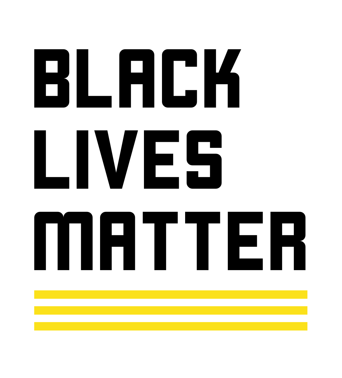 Black Lives Matter banner