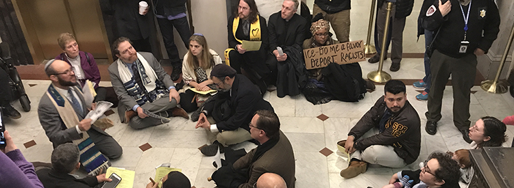 Members of ECCO at a sit-in at the State House