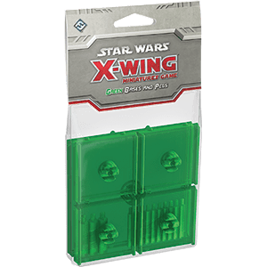 X-Wing Bases & Pegs (Green)