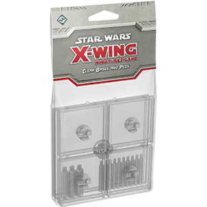 X-Wing Bases & Pegs (Clear)