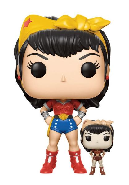 DC Comics Bombshells POP! Heroes Vinyl Figures 9 cm Wonder Woman CHASE EDITION