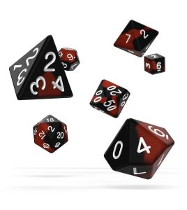 Oakie Doakie Dice RPG Set Glow in the Dark - Lava (7)