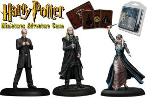 Harry Potter Miniatures 35 mm 3-pack Malfoy Family *English Version*