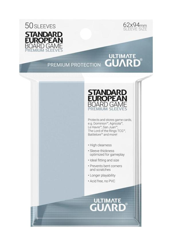Ultimate Guard Premium Soft Sleeves for Board Game Cards Standard European (50)