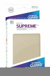 Ultimate Guard Supreme UX Sleeves Standard Size Matte Sand (80)