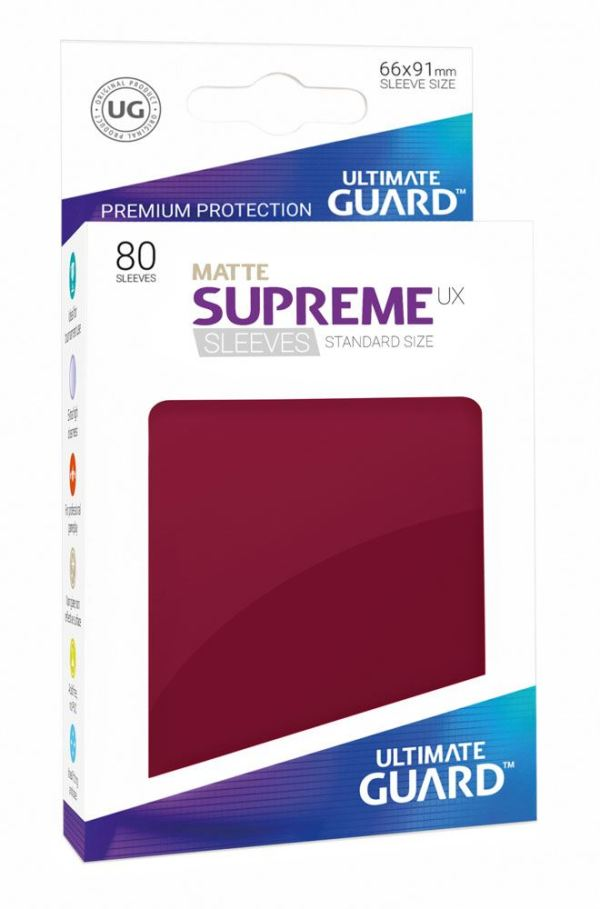 Ultimate Guard Supreme UX Sleeves Standard Size Matte Burgundy (80)