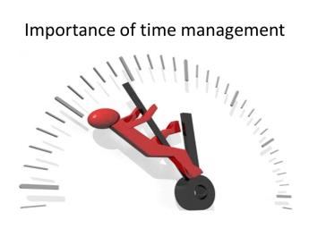 importance of time mahagement