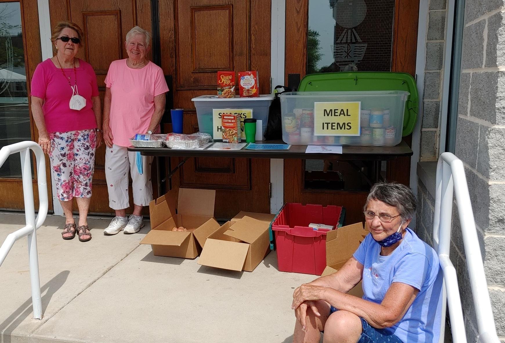 Volunteers at the FPC Food Pantry