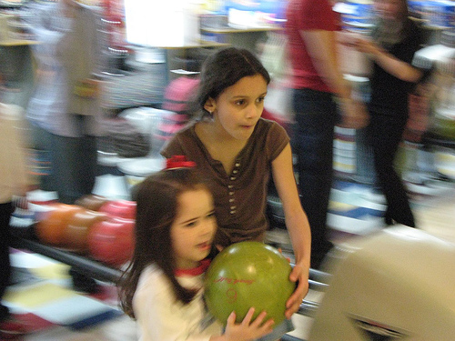 children bowling party photo