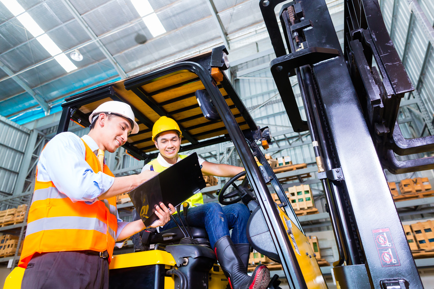 forklift safety training in warehouse