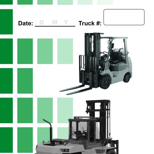 Daily Checklist Caddy-Internal Combustion-Counterbalance Forklift