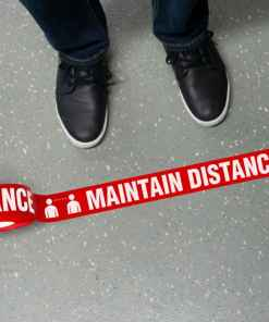 Maintain Distance Floor Tape
