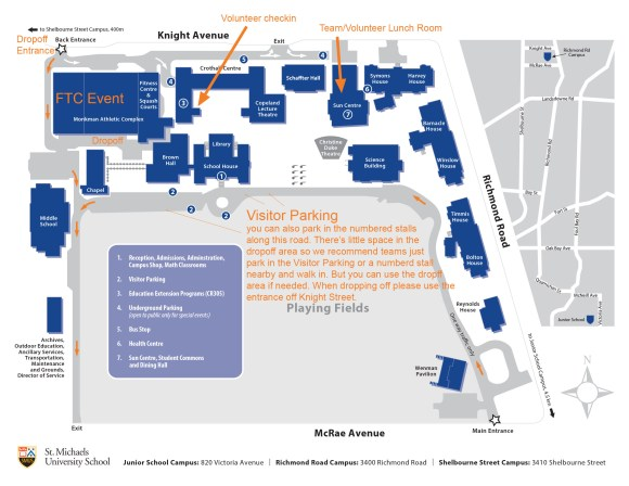 St. Michaels University School campus  map