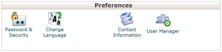 cPanel Preferences