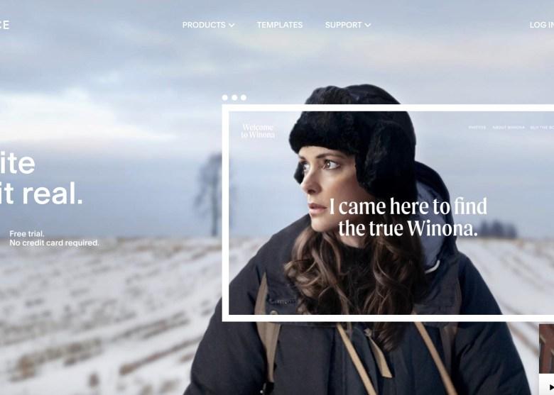 home page di squarespace