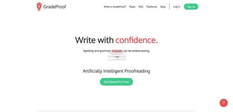 Homepage dello strumento GradeProof
