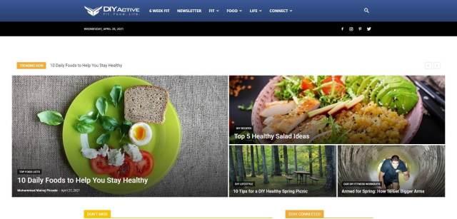 DIY Active Homepage