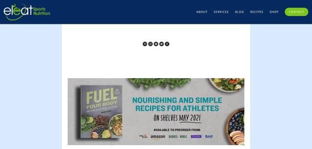 Eleat Sports Nutrition Homepage
