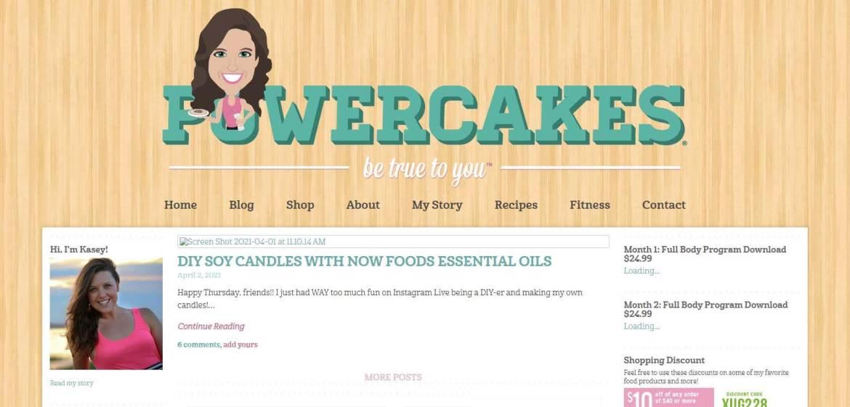 Powercakes Homepage
