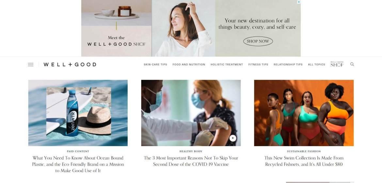 Well+Good Homepage