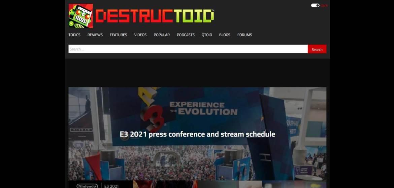 Destructoid Homepage