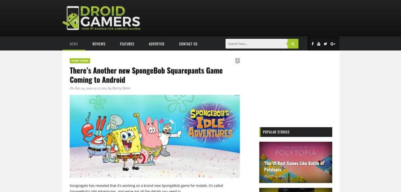 Droid Gamers Homepage