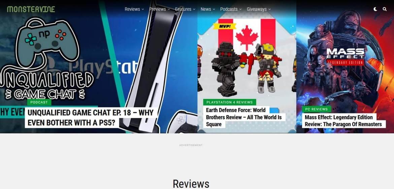 MonsterVine Homepage