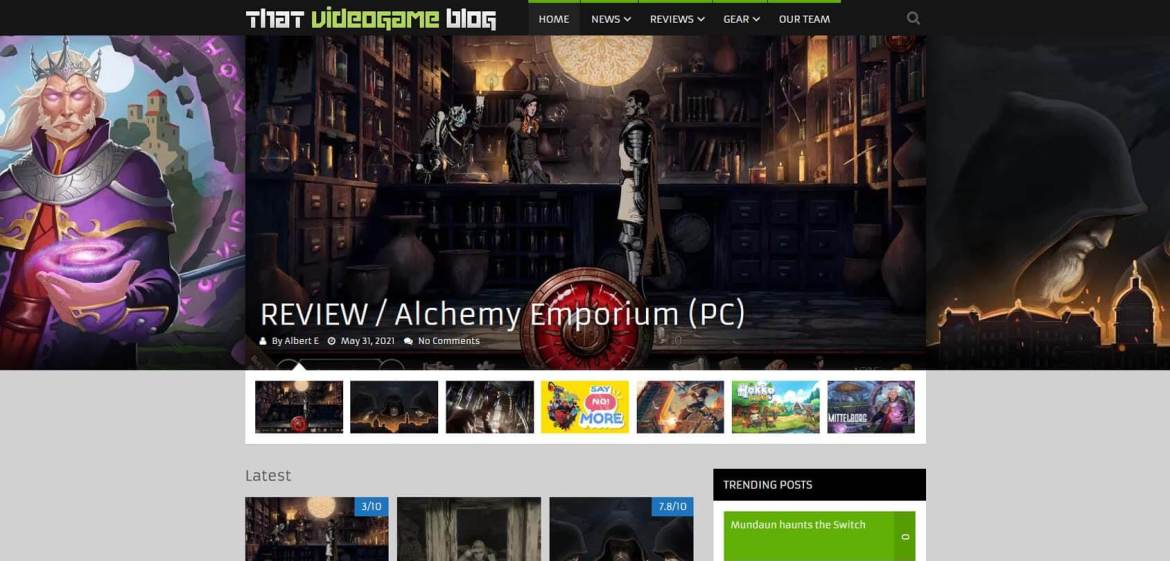 That Video Game Blog Homepage