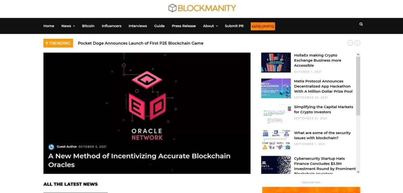 Blockmanity Homepage