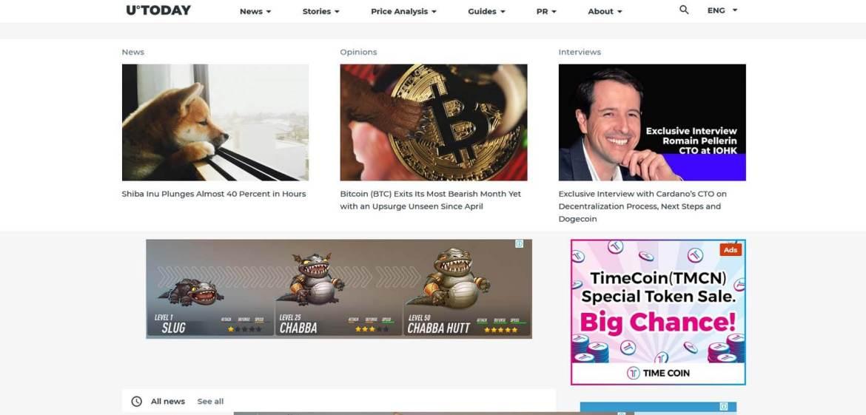 U.today Homepage